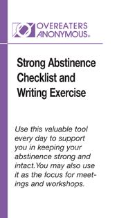 Strong Abstinence Checklist and Writing Exercises (Wallet Card)