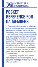 Pocket Reference for OA Members