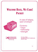 Welcome Back, We Care! Packet