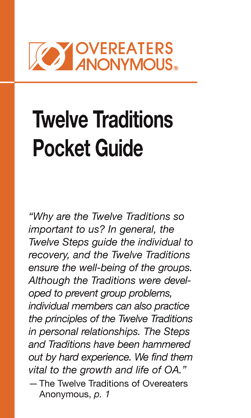Twelve Traditions Pocket Guide